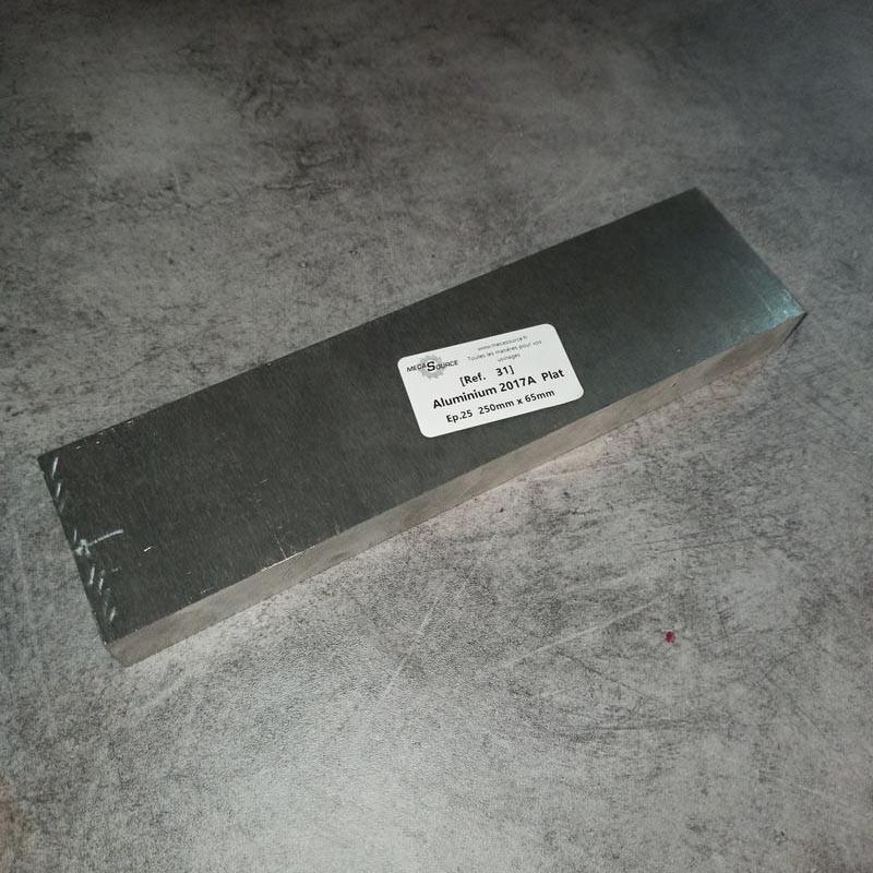 Aluminium 2017A Ep.25 250 x 65mm