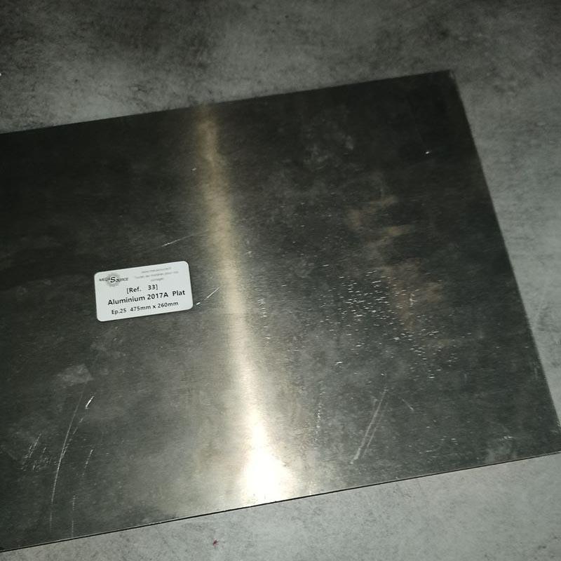 Aluminium 2017A Ep.25 475 x 260mm
