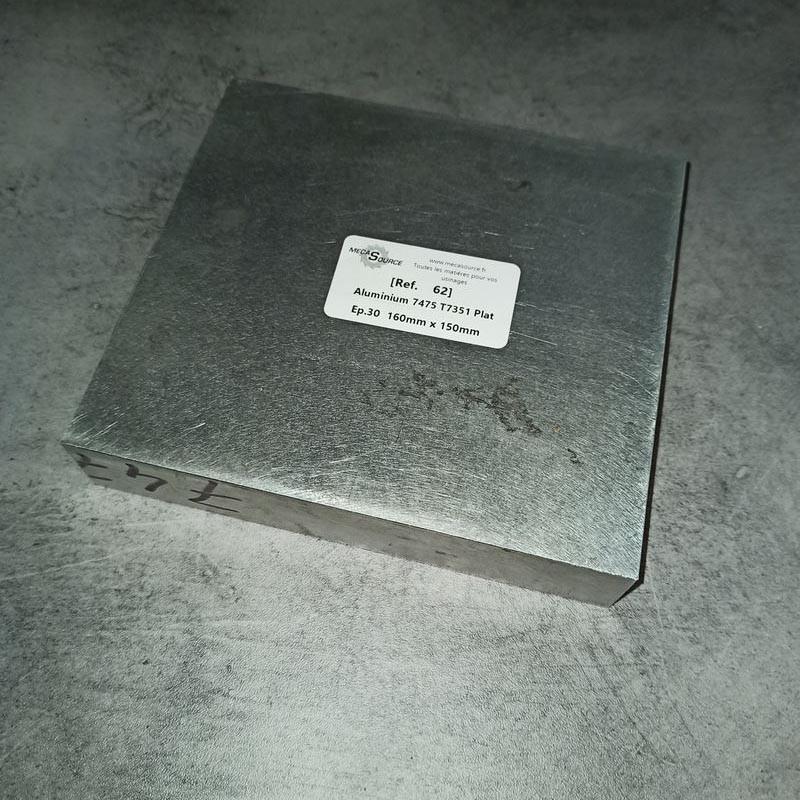 Aluminium 7475 T7351 Ep.30 160 x 150mm