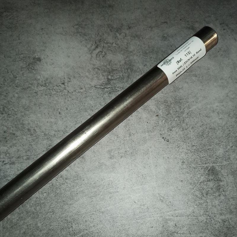 Inox 304L / Z3CN18.10 D.25 L.500mm