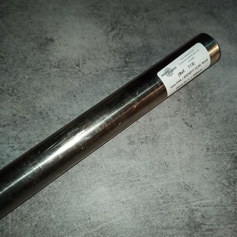 Inox 316L / Z2CND17.12.02 D.35 L.500mm