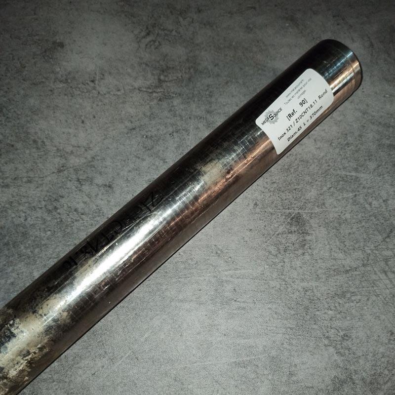 Inox 321 / Z10CNT18.11 D.45 L.370mm