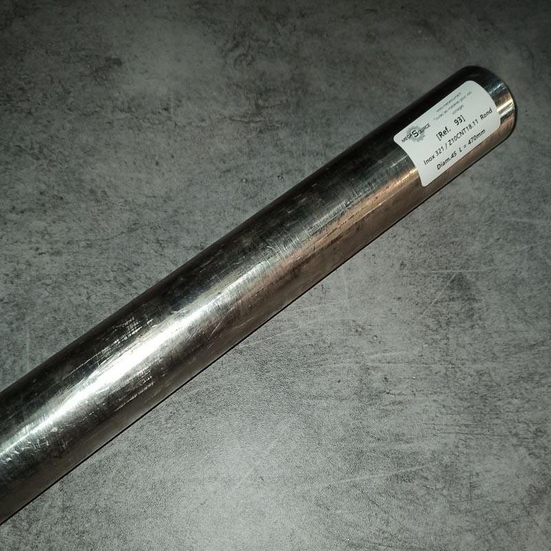 Inox 321 / Z10CNT18.11 D.45 L.470mm