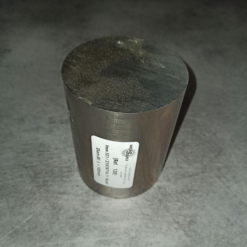 Inox 321 / Z10CNT18.11 D.80 L.100mm