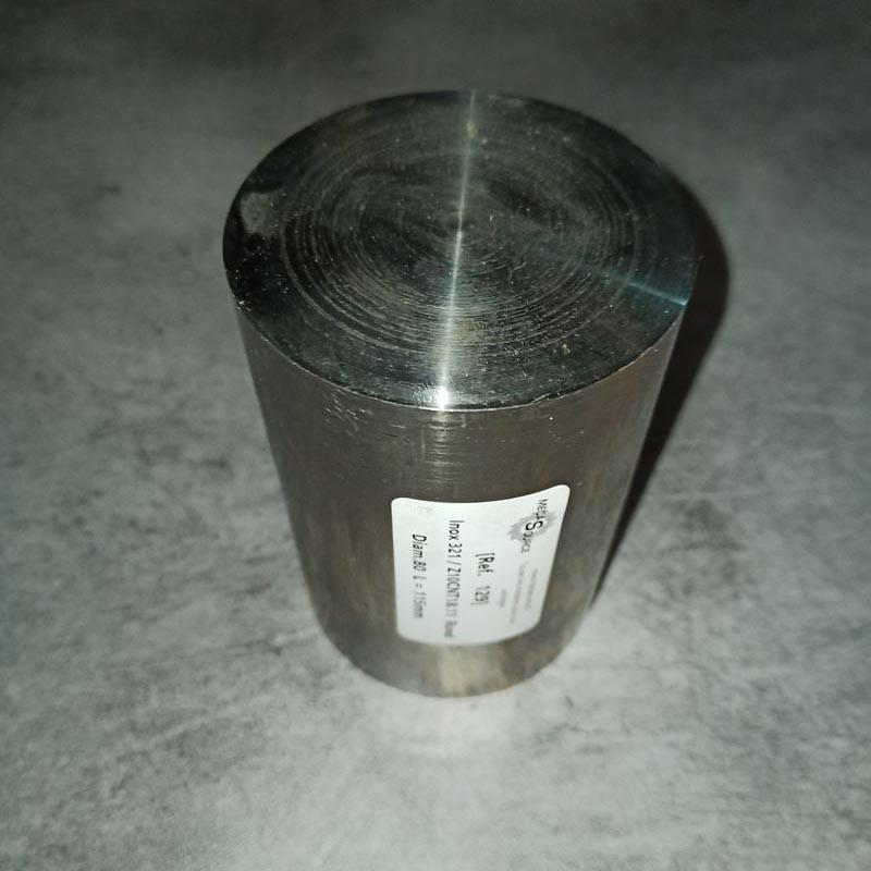 Inox 321 / Z10CNT18.11 D.80 L.115mm