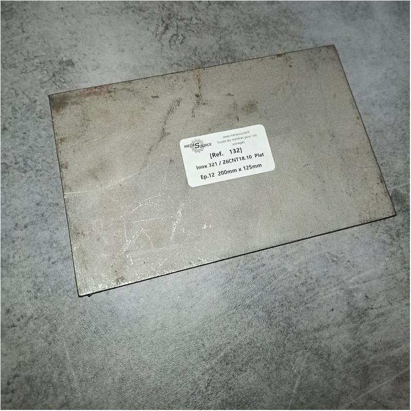 Inox 321 / Z6CNT18.10 Ep.12 200 x 125mm