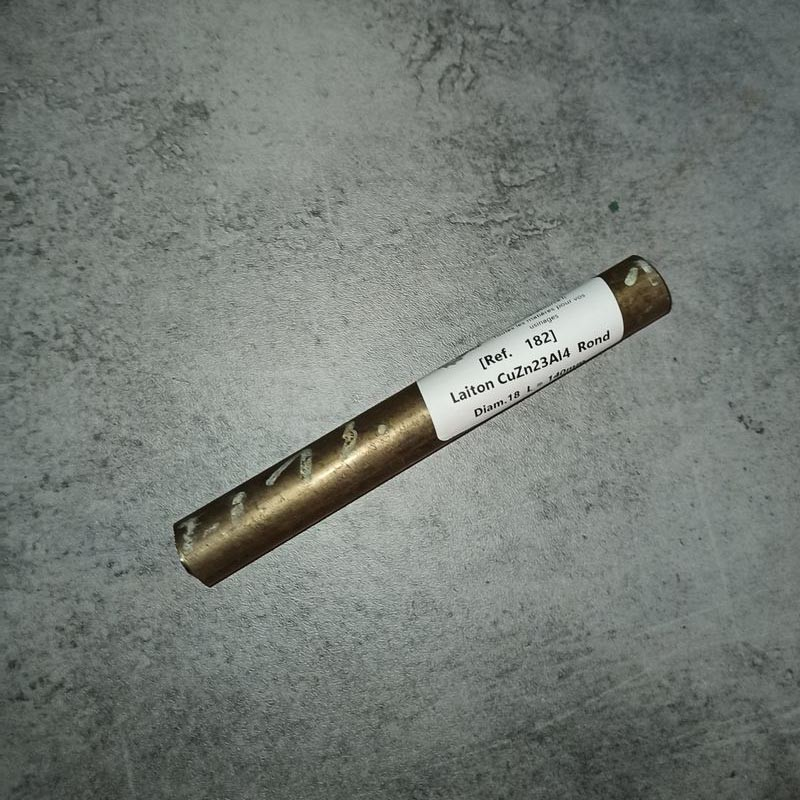 Laiton CuZn23Al4 D.18 L.140mm