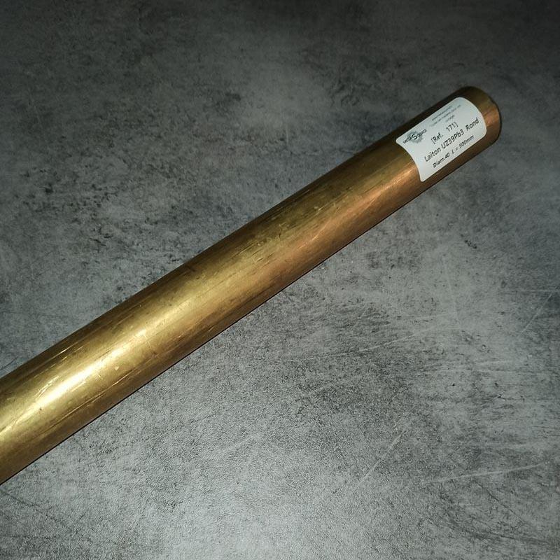 Laiton UZ39Pb3 D.40 L.500mm